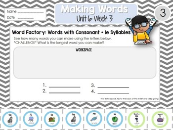 Daily Word Work: 2nd Grade (Unit 6, Week 3)