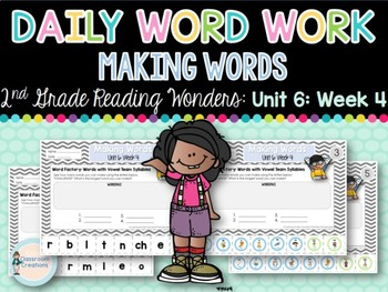 Daily Word Work: 2nd Grade (Unit 6, Week 4)