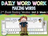 Daily Word Work: 2nd Grade Wonders Unit 2: Week 1