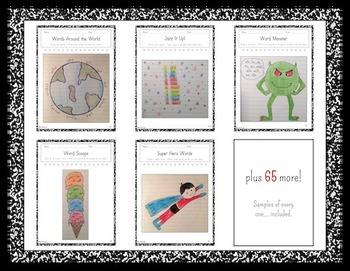 Interactive Notebook-Daily Word Work - Gr. K-6 - 76 Fun Ways to Practice Words