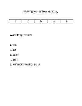 Daily Word Work Routine