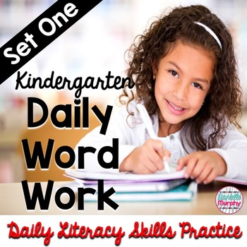 Daily Word Work Set 1--Daily Literacy Skills Practice for