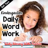 Daily Phonics and Phonemic Awareness for Kindergarten Set 2