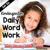 Daily Phonics and Phonemic Awareness for Kindergarten Set 6