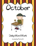 Daily Word Work for October