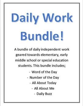 Daily Work Bundle