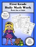 First Grade Daily Math: Book One