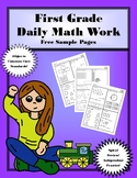 First Grade Daily Math: Free Pages