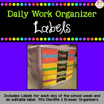 Daily Work Organizer Labels - {freebie}
