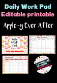 Daily Work Pad - 'Apple-y Ever After'