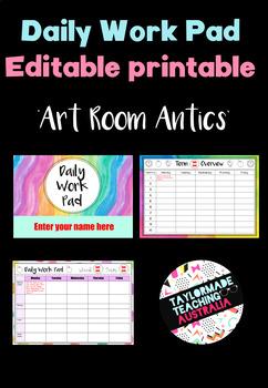 Daily Work Pad - 'Art Room Antics'