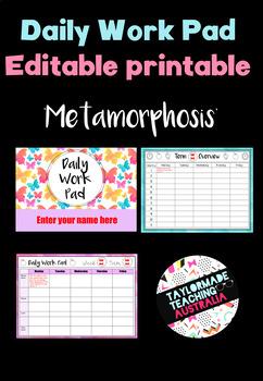 Daily Work Pad - 'Metamorphosis'