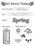 Daily Worksheet - Traceable Dates - 2019April