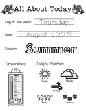 Daily Worksheet - Traceable Dates - 2019August