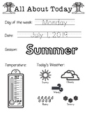Daily Worksheet - Traceable Dates - 2019July