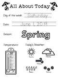 Daily Worksheet - Traceable Dates - 2019June