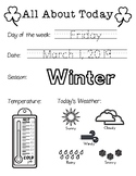 Daily Worksheet - Traceable Dates - 2019March