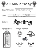 Daily Worksheet - Traceable Dates - 2019May