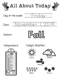 Daily Worksheet - Traceable Dates - 2019November
