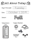 Daily Worksheet - Traceable Dates - 2019October