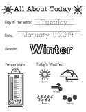 Daily Worksheet - Traceable Dates - 2019January