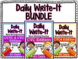 Daily Write-It BUNDLE: Word-Writing Routine w/ CVC, CVCe, CCVC & CVCC Words