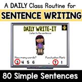 Simple Sentences Writing Practice: Daily Write-It Digital