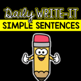 Simple Sentences Writing Practice: Daily Write-It Digital