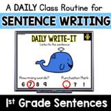 First Grade Sentence Writing Activity: Daily Writing Routine w/ Phonics Skills