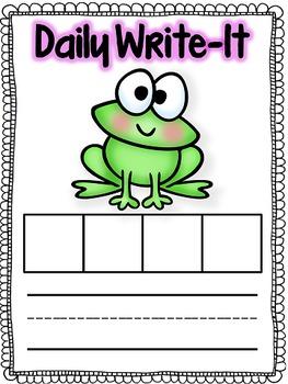 Daily Write-It: Word-Writing Routine w/ CCVC & CVCC (Smartboard & Printable)