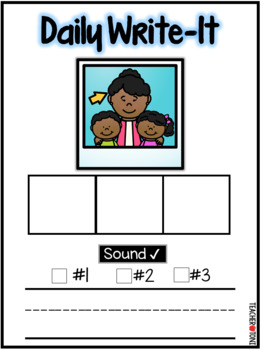 Daily Write-It: Word Wrting Routine w/ CVC Words (Smartboard & Printable)