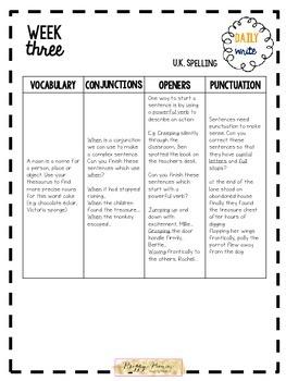 Daily Write! Writing Skills Daily Tasks