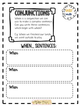 Daily Write! Writing Skills Daily Tasks Worksheet Edition