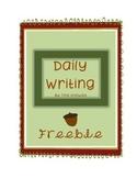Daily Writing Activity
