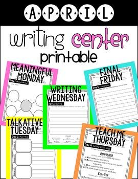 Writing Center April