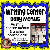 Writing Center Daily Menus with how to posters and follow ups