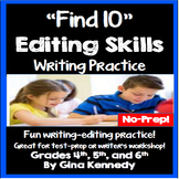 Editing Practice, 75 Daily Writing Editing Warm-ups Ready to Go!