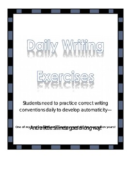 Daily Writing Exercises 2nd Quarter