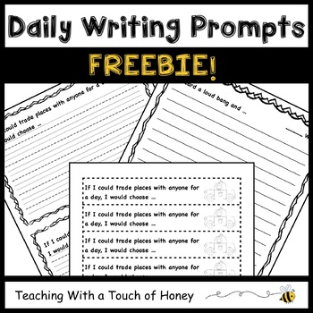 Daily Writing Fluency Prompts FREEBIE!