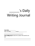 Daily Writing Journal- 40 pages of prompts