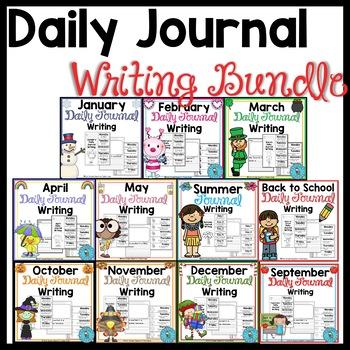 Daily Quick Writes Writing Journal Bundle
