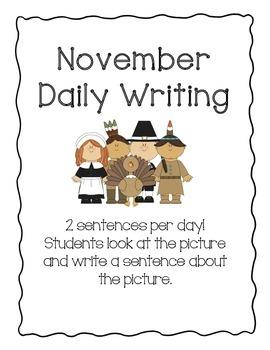 Daily Writing Journal: November