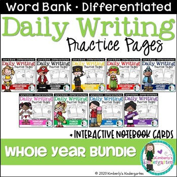 Daily Writing Journal Pages for Beginning Writers: WHOLE Y