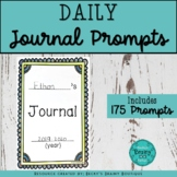 Daily Writing Journal with 175 fun, unique & creative prom