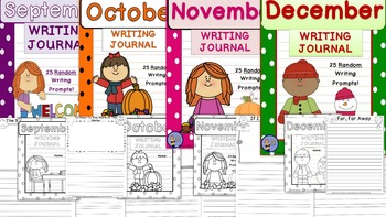 Daily Writing Journals BUNDLE 1 September to December