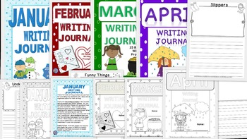Daily Writing Journals BUNDLE 2 January to April