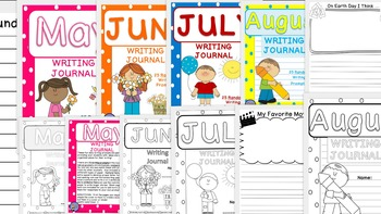Daily Writing Journals BUNDLE 3 May to August