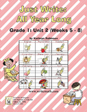 Daily 1st Grade Writing Lessons, Activities, Grammar - Unit 2 - {CCSS Aligned}