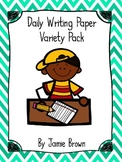 Daily Writing Paper Variety Pack (HWT and traditional style lines)
