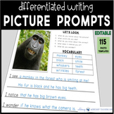 Daily Writing Picture Prompts - 100+ Animal Photos Writing Templates